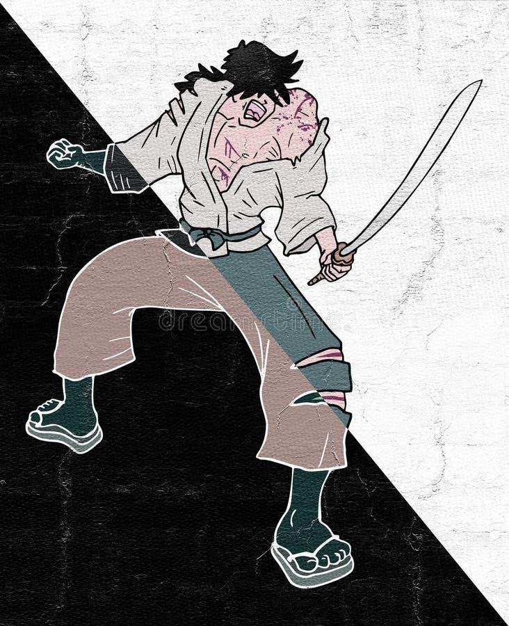 Moedige strijder royalty-vrije illustratie