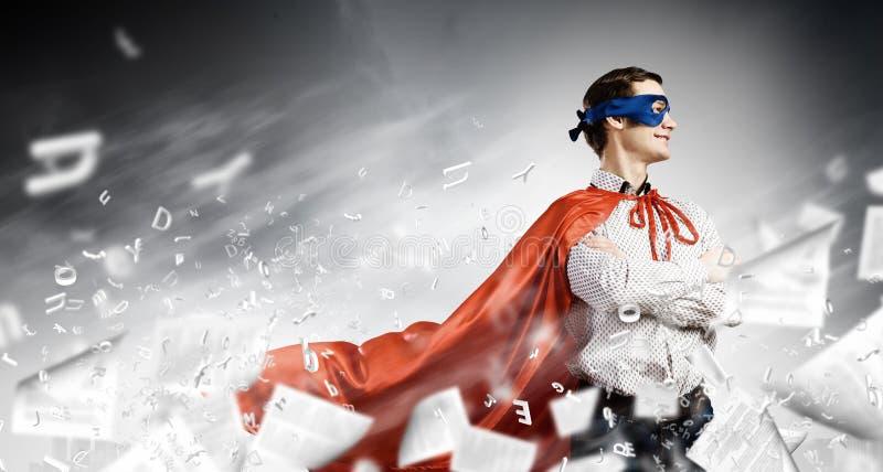 Moedige superhero royalty-vrije stock afbeelding