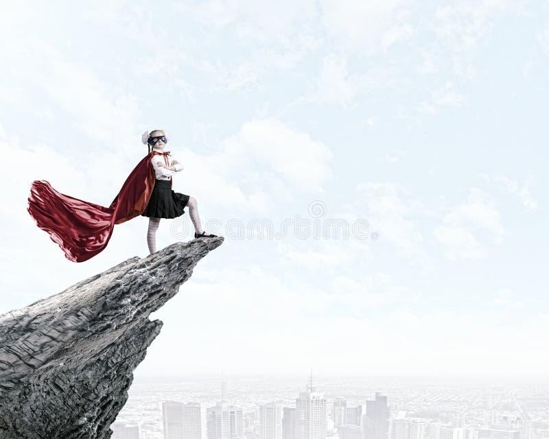 Moedige superkid stock fotografie