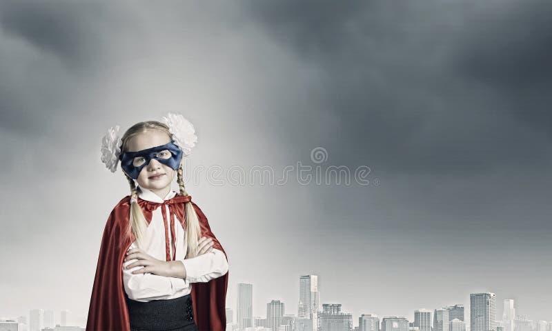 Moedige superkid royalty-vrije stock fotografie