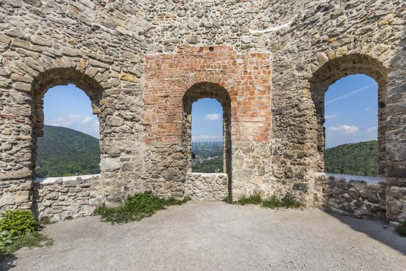 Moedling slott i Österrike arkivbild