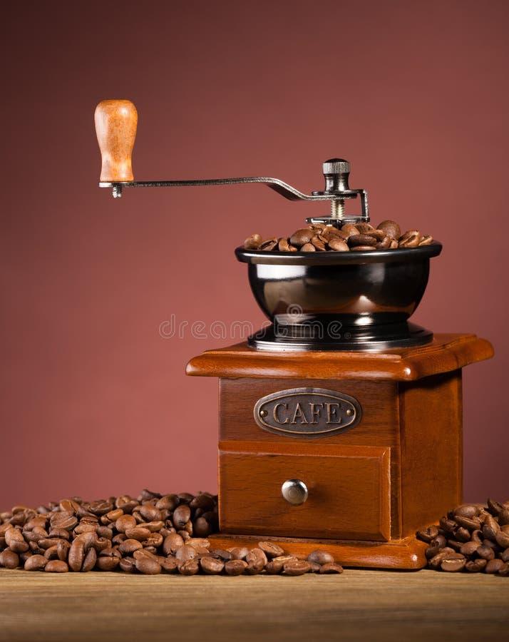 Moedor de café a bordo fotografia de stock