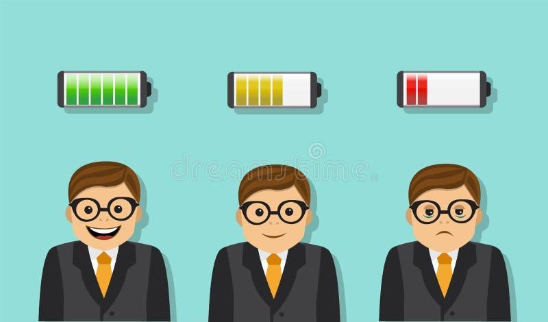 Moeheid en Efficiency royalty-vrije illustratie