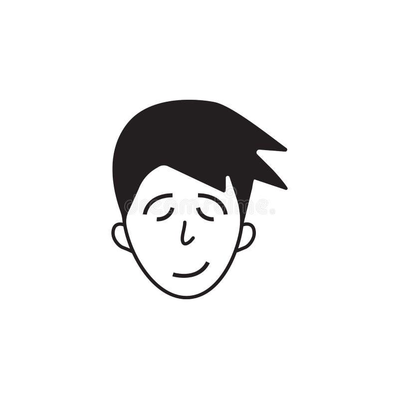 moeheid op het gezichtspictogram Element van de menselijke illustratie van emotieselementen Grafisch het ontwerppictogram van de  stock illustratie