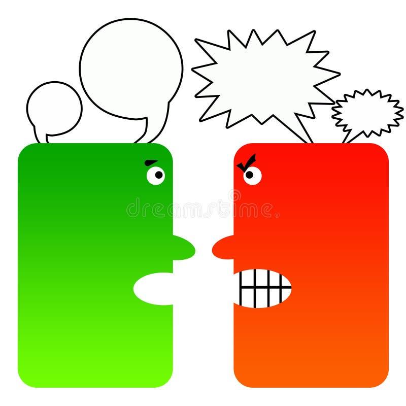 Moeilijk gesprek royalty-vrije illustratie
