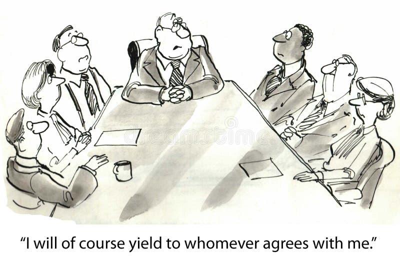 Moeilijke werkgever vector illustratie
