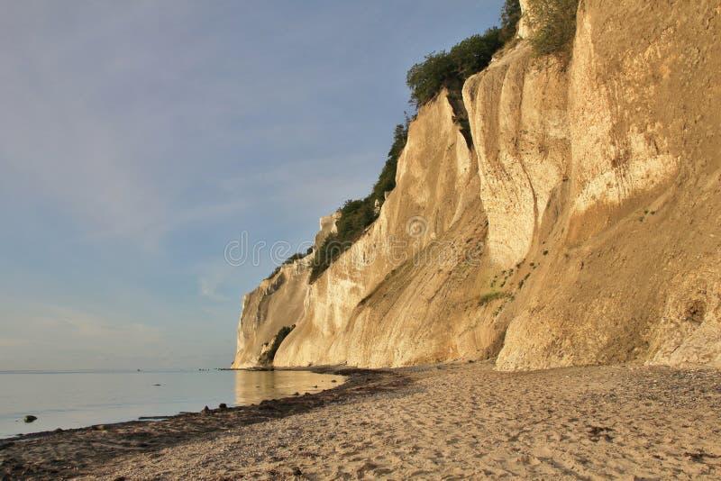 Moens Klint, высокая скала известняка на восточном побережье Дании стоковое фото rf