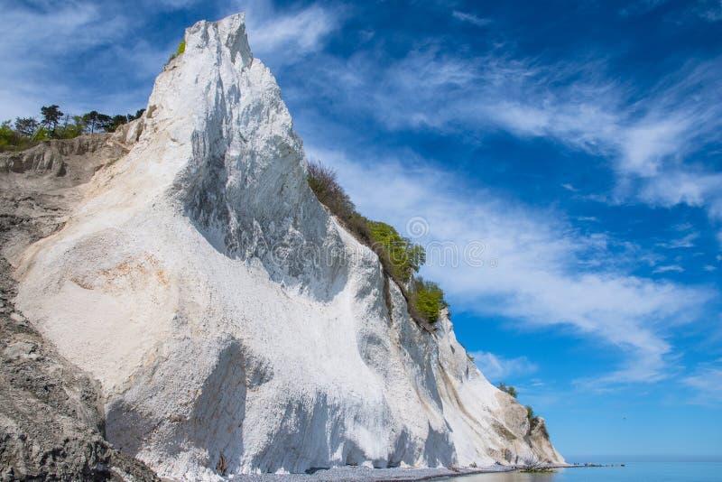 Moens klint kredowe falezy w Dani zdjęcia stock
