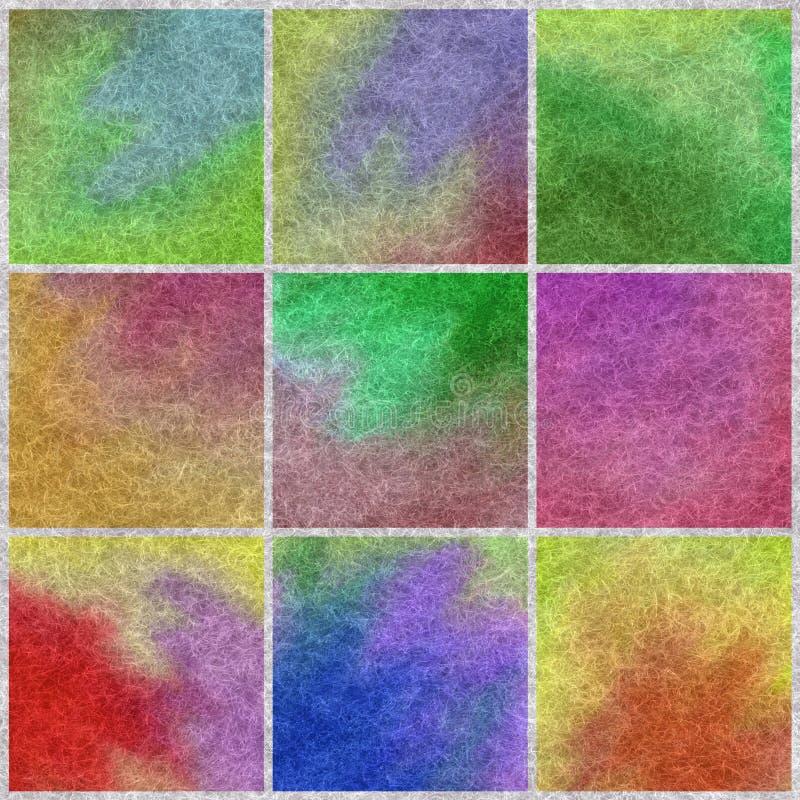 Moer coloreado de las lanas stock de ilustración