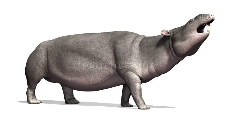Moeritherium - mamífero prehistórico ilustración del vector
