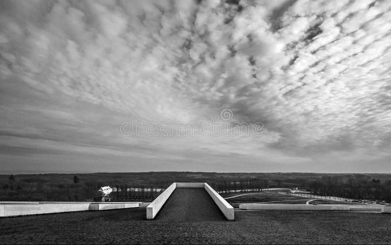 Moesgaard museum Denmark Aarhus rooftop. The recently built Moesgaard museum, which has granted a lot of adulation for its outstanding architecture. This is seen royalty free stock photos