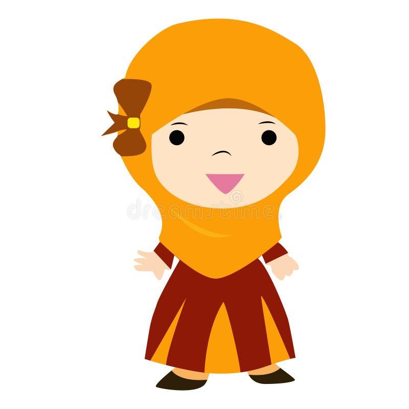 Moeslim λίγο ευτυχές κορίτσι στοκ φωτογραφία με δικαίωμα ελεύθερης χρήσης