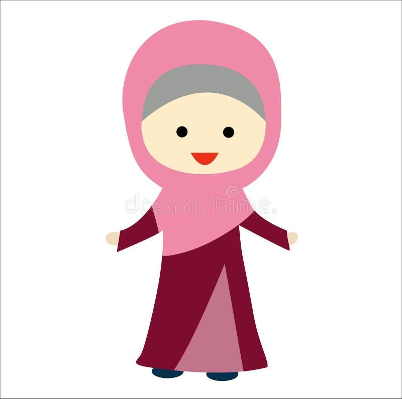 Moeslim λίγο χαριτωμένο κορίτσι στοκ φωτογραφία με δικαίωμα ελεύθερης χρήσης