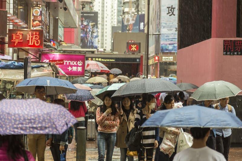 Moessonregen in Hong Kong stock afbeelding