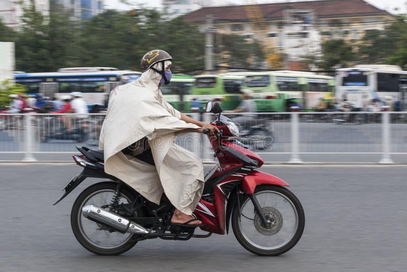 Moessonregen in Vietnam, Zuidoost-Azië stock fotografie