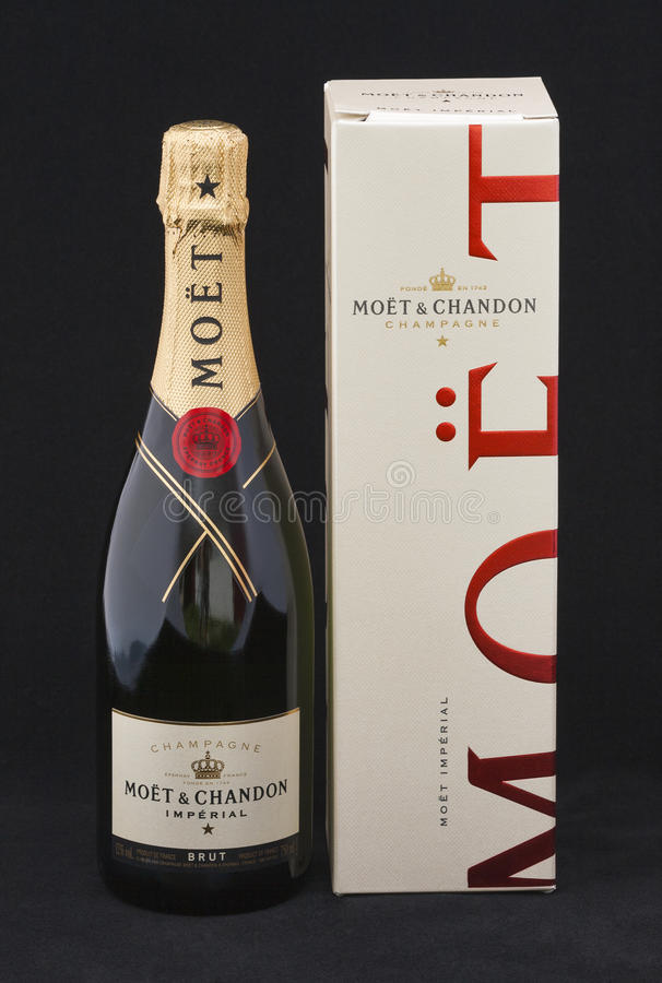 Moet & Chandon Champagne brut imperiale fotografia stock