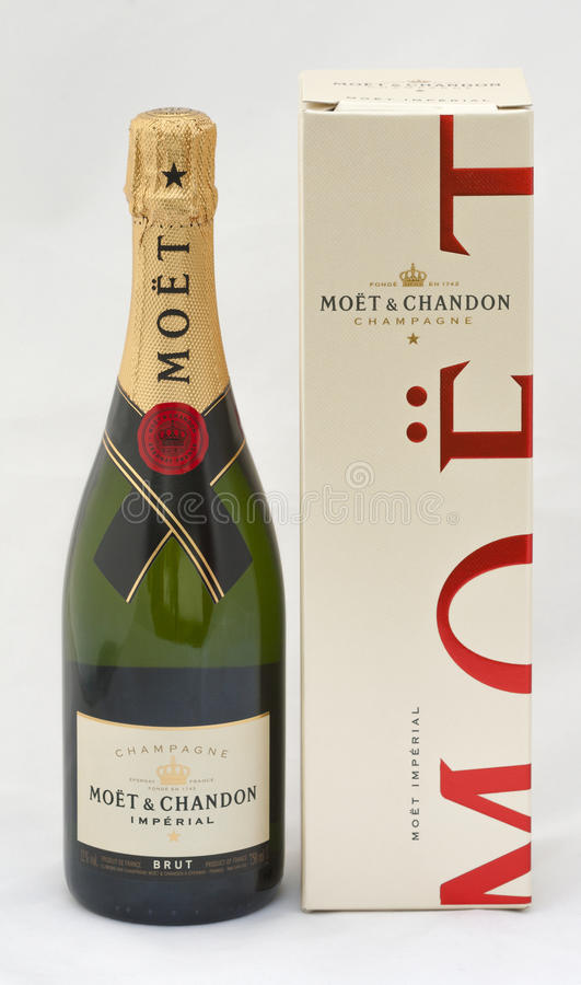 Moet & Chandon keizerbrut Champagne stock foto's