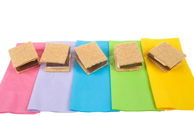 """Moeurs de S """"sur les serviettes colorées d'en haut images libres de droits"""