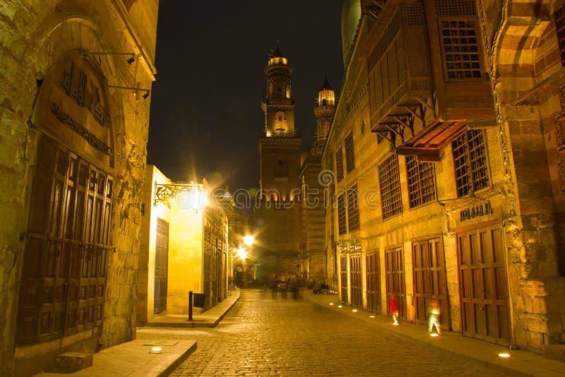 moez晚上街道 库存照片