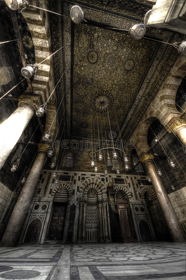 Moez Street, Egypt. Internal Architecture of the Moez Street in Cairo, Egypt stock photo