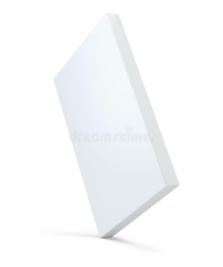 Mofa blanca del paquete encima de la sombra modelo Plantilla del paquete de la caja del envase del matchbook de la cartulina en b ilustración del vector