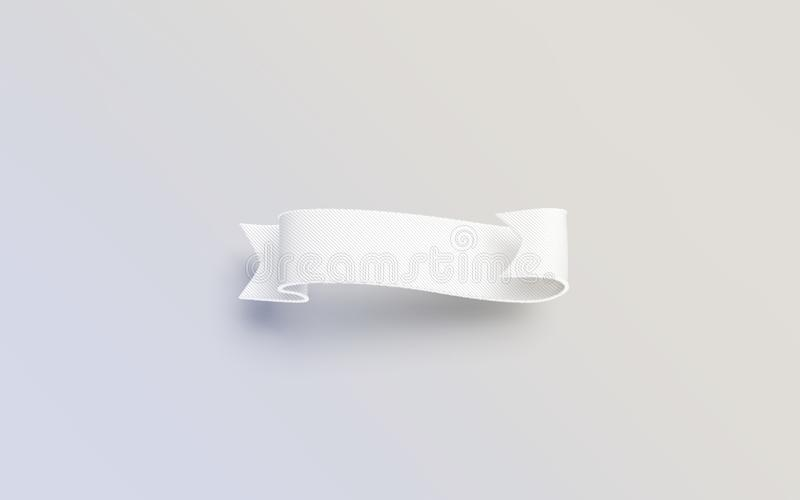 Mofa blanca en blanco de la banderola para arriba aislada en fondo gris ilustración del vector