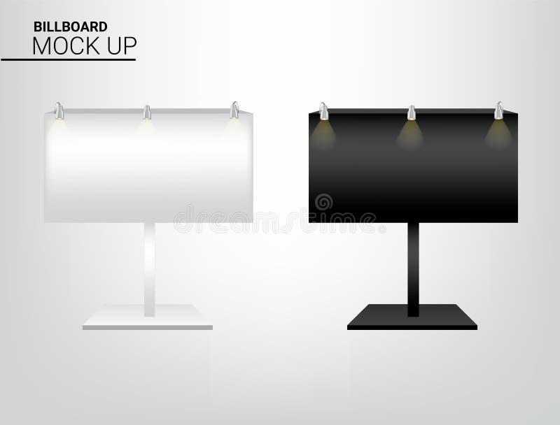 mofa 3D encima de la exhibición realista POP de la cartelera para la promoción del márketing de la venta de la marca con la plant stock de ilustración
