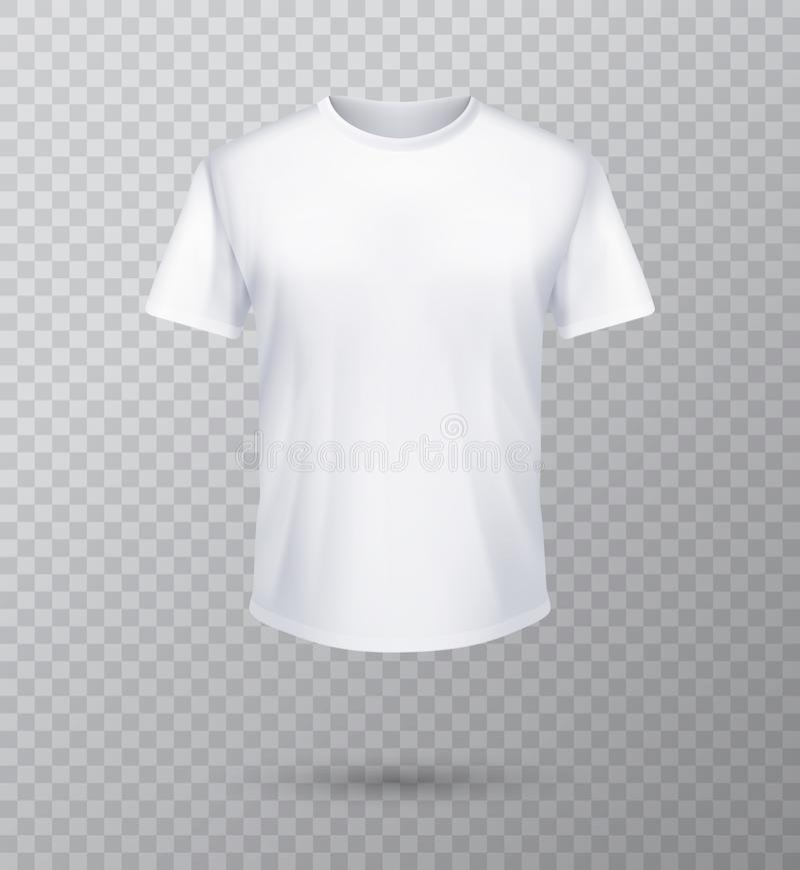 Mofa de la camisa instalada Plantilla de la camiseta Versión negra, gris y blanca, diseño delantero ilustración del vector