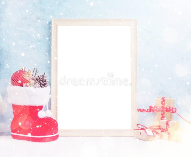 Mofa De La Navidad De VBright Para Arriba Con El Marco Grande De La ...