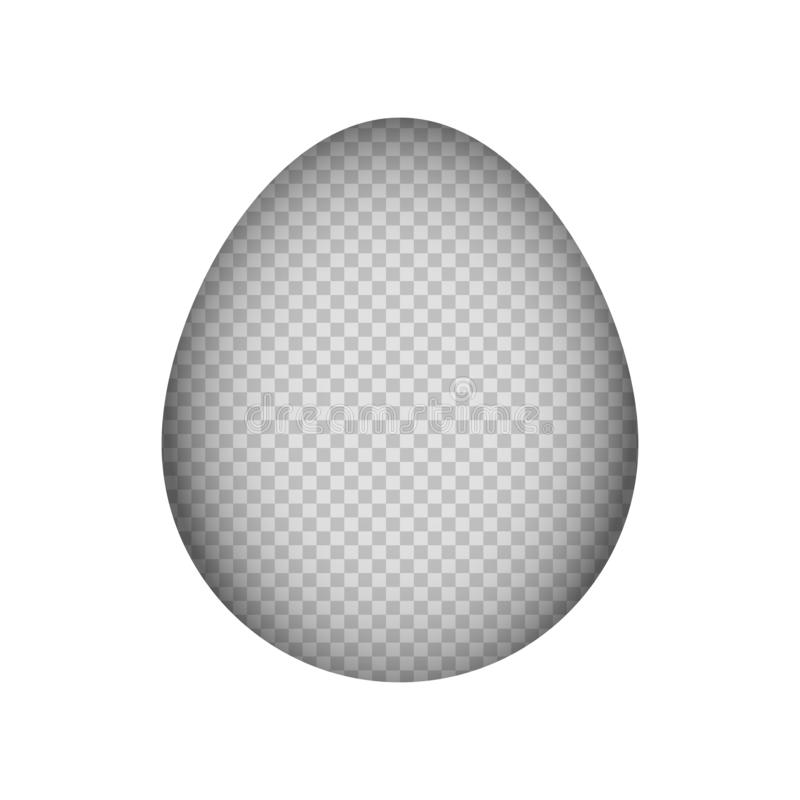 Mofa de papel del corte encima del fondo del huevo de Pascua libre illustration