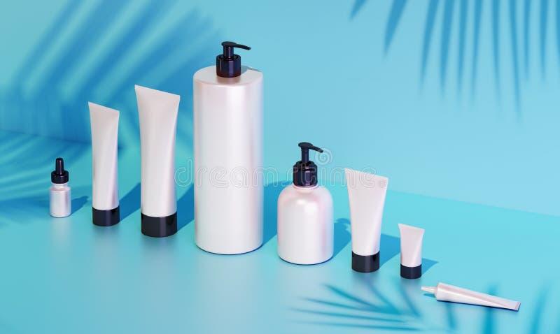 Mofa del cosmético para arriba bajo luz del sol stock de ilustración