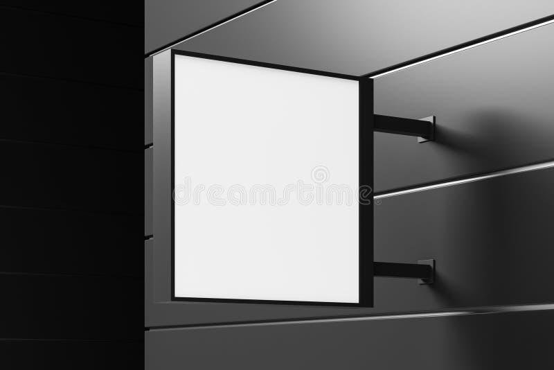 Mofa del cuadrado encima de la muestra en la pared constructiva gris libre illustration