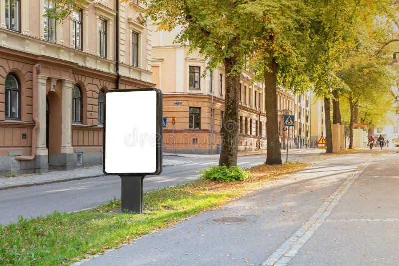 Mofa en blanco de la cartelera para arriba foto de archivo libre de regalías