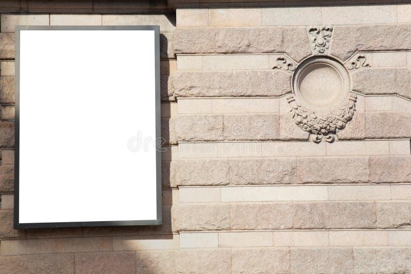 Mofa en blanco de la cartelera para arriba imágenes de archivo libres de regalías
