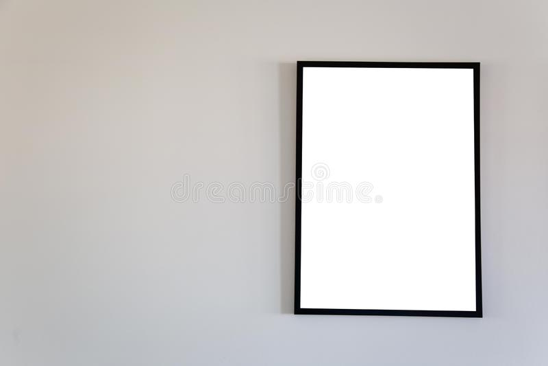 Mofa en blanco del marco para arriba imagen de archivo