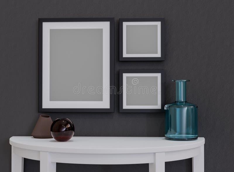 Mofa encima de los marcos para sus propias imágenes foto de archivo