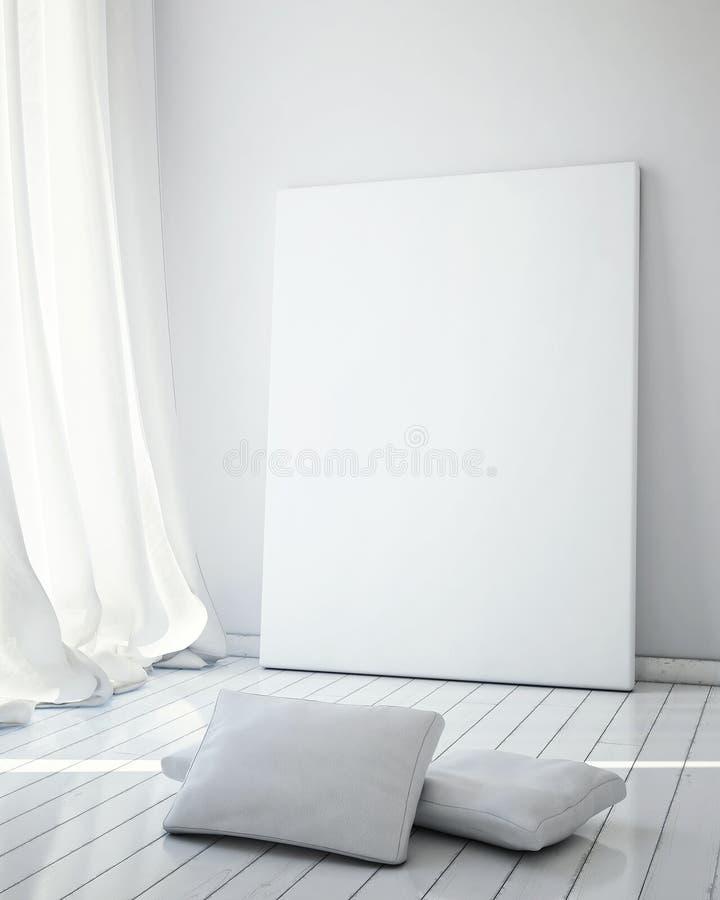 Mofa encima del marco de los carteles ilustración del vector