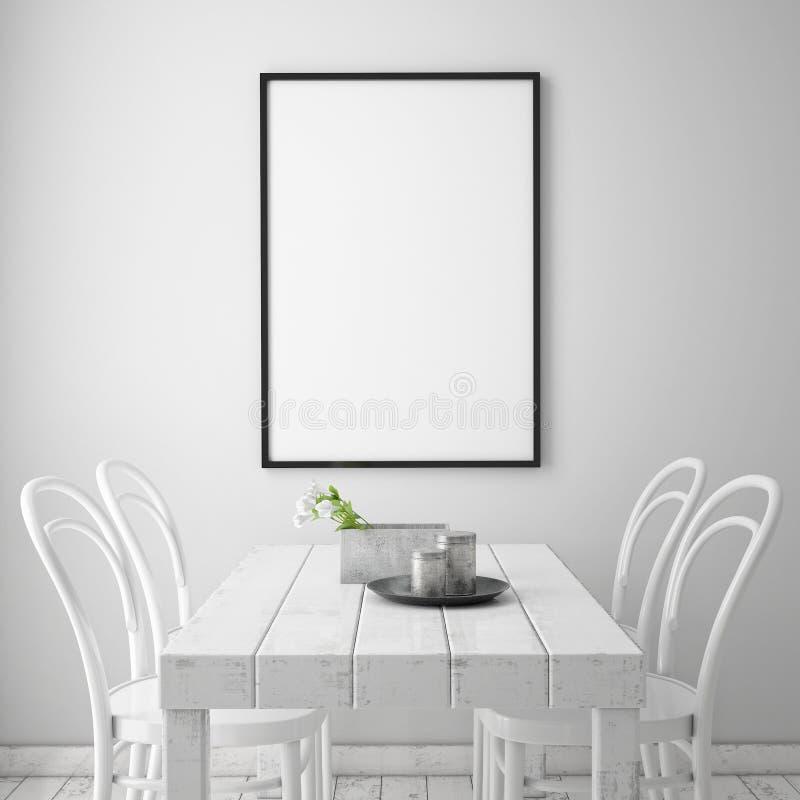 Mofa encima del marco del cartel stock de ilustración