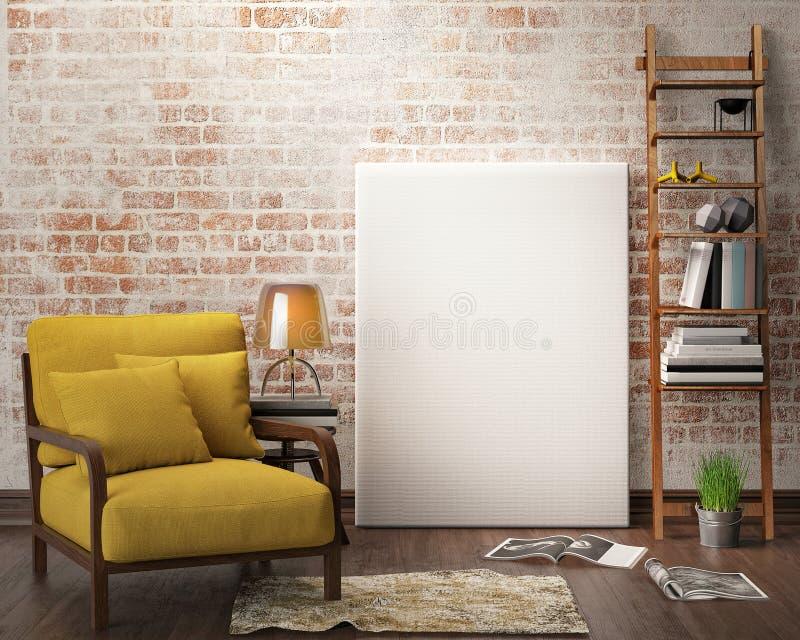Mofa encima del marco del cartel libre illustration