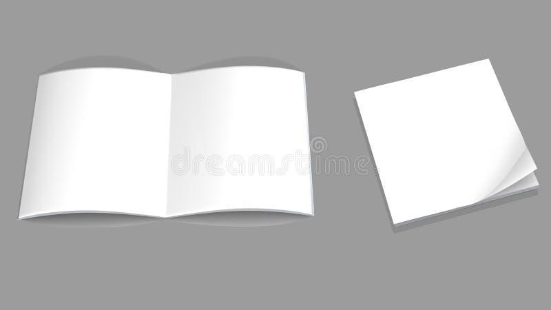 Mofa para arriba de la revista vertical abierta folleto ilustración del vector