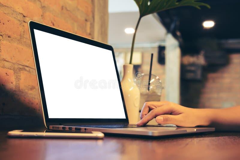 Mofa para arriba del ordenador portátil imagenes de archivo