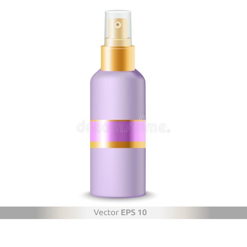 Mofa plástica cosmética del vector de la botella para arriba fotos de archivo libres de regalías