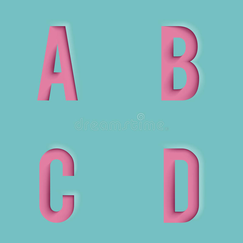 Mofa realista del diseño de la plantilla 3d de las letras de papel del recorte encima del ejemplo del vector ilustración del vector