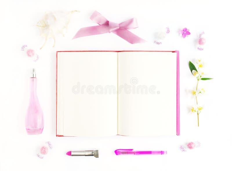Mofa rosada para arriba fotografía de archivo