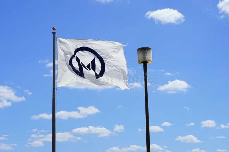 Moffitt centrum flaga obrazy stock