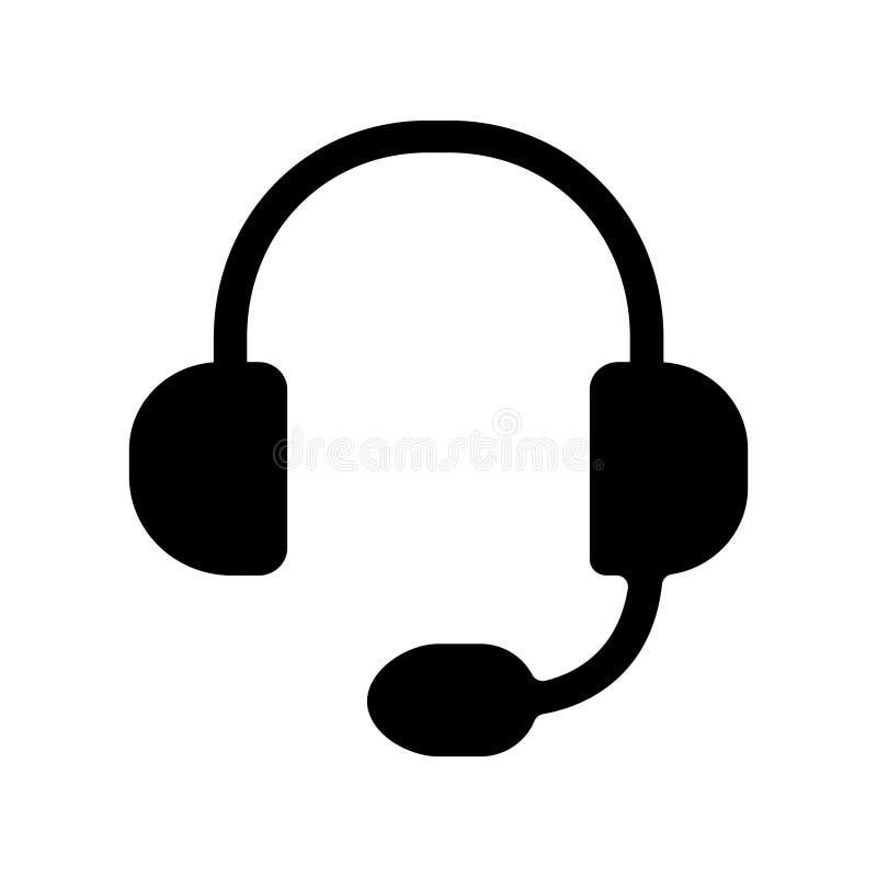He?mofonu wektoru ikona Hełmofon ilustracji logo Wywo?awczy symbol ilustracji