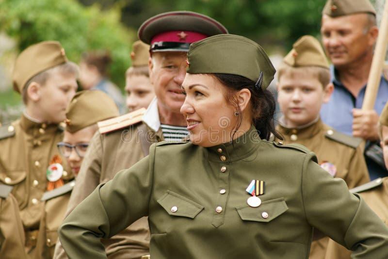 9 mogą 2017 Taganrog Nieśmiertelny pułk obraz stock