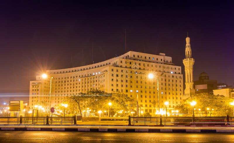 Mogamma,在Tahrir广场的一个政府大厦在开罗 图库摄影