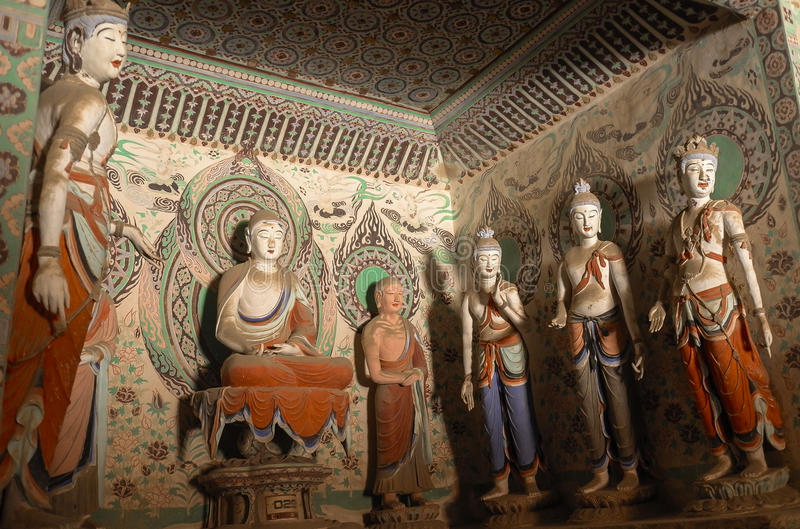 Mogao Caves in Dunhuang, China royalty free stock images