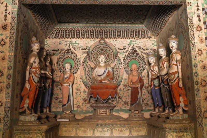 Mogao zawala się w Dunhuang, Chiny obrazy royalty free